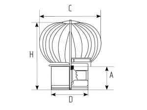 Ротационный (Активный) дефлектор (турбодефлектор)