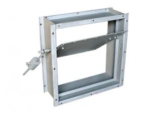 Клапаны обратные взрывозащищенные для вентиляционных систем взрывоопасных производств прямоугольного сечения АЗЕ102.000, АЗЕ103.000, АЗЕ104.000